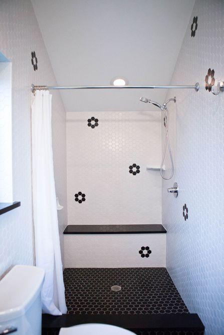 baños en el ático con cuarto húmedo
