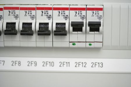 dedicated electrical circuits for appliances close up of fuse box