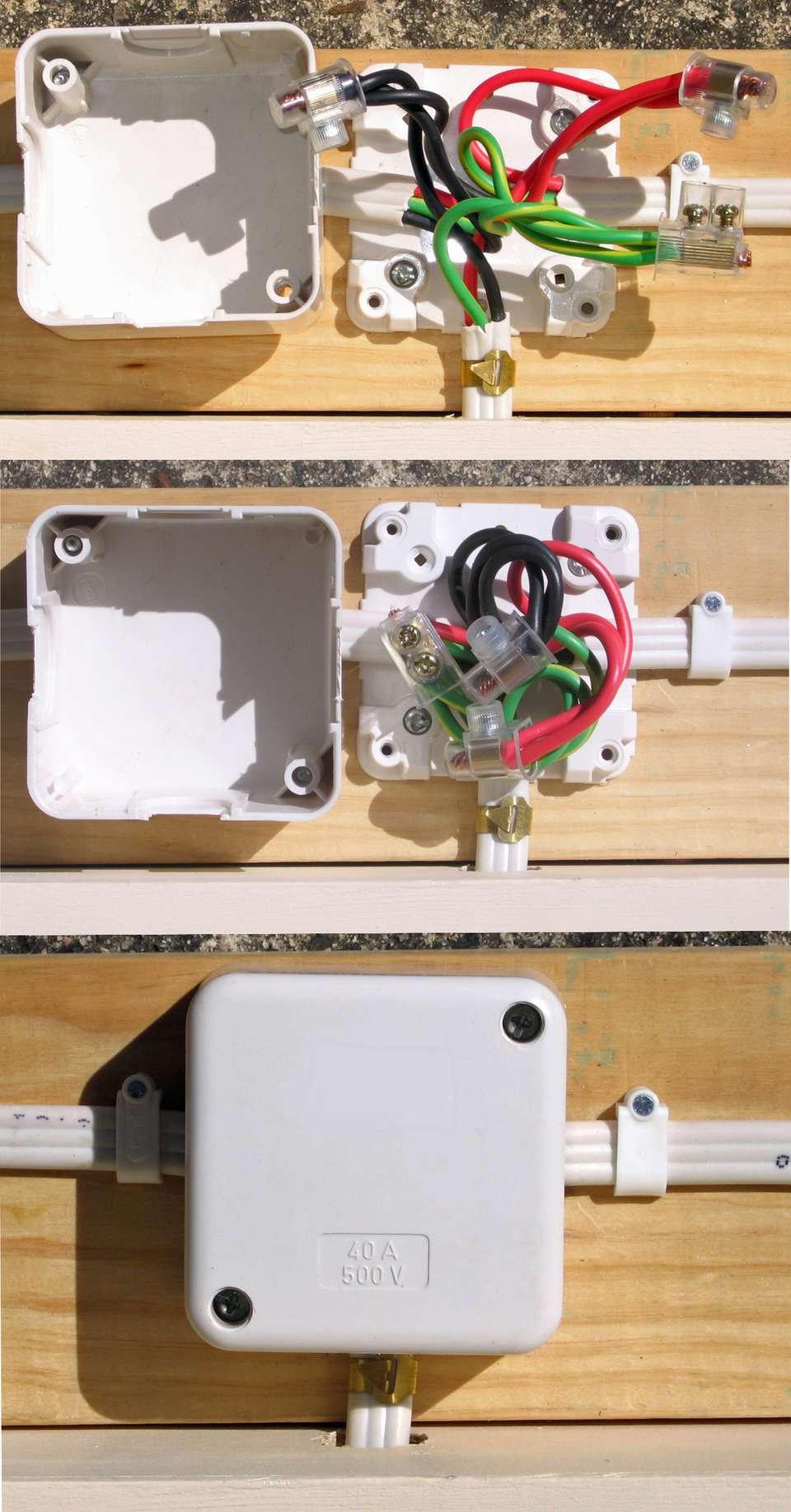 A surface-mount junction box