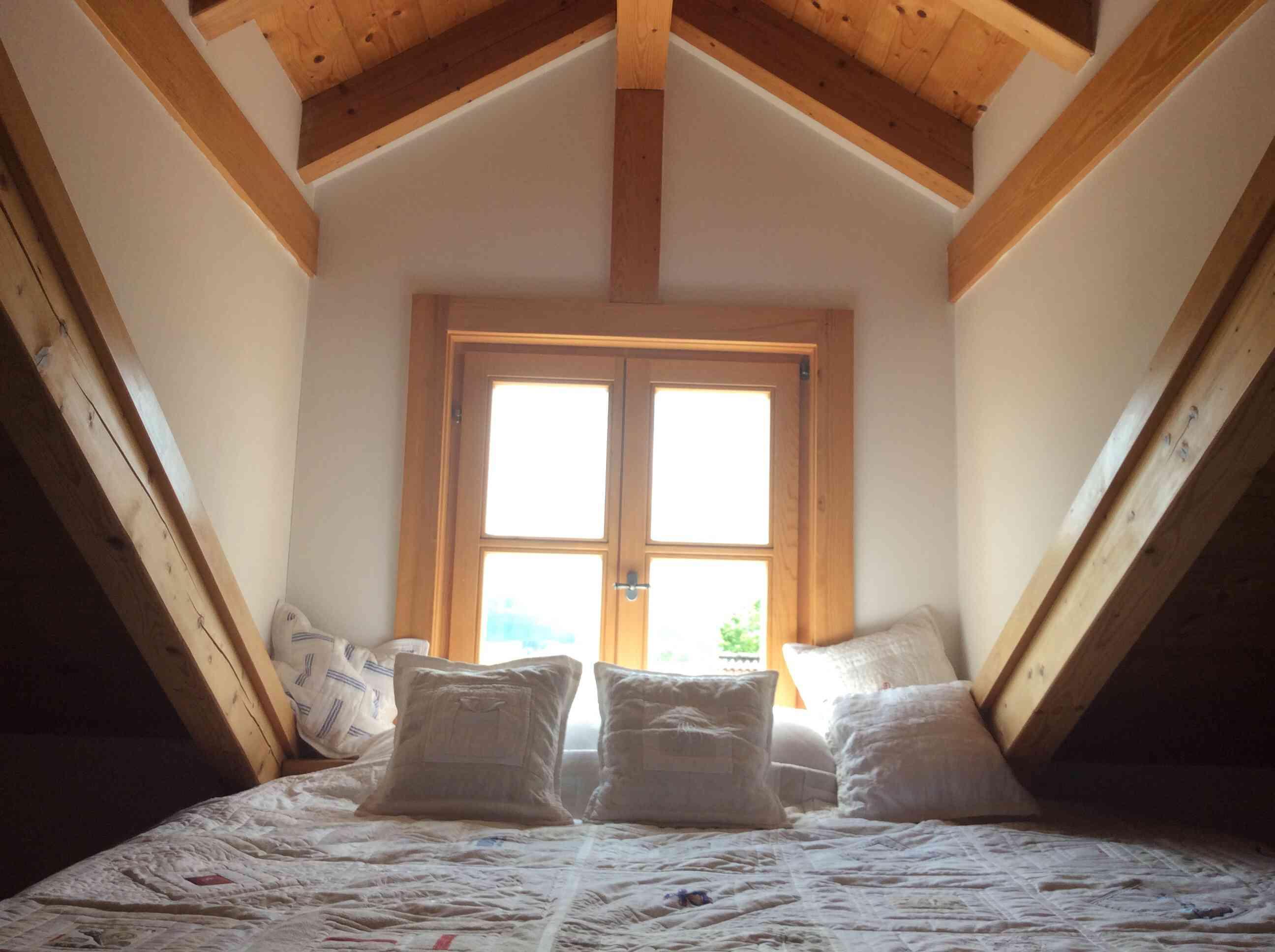 Attic bedroom window