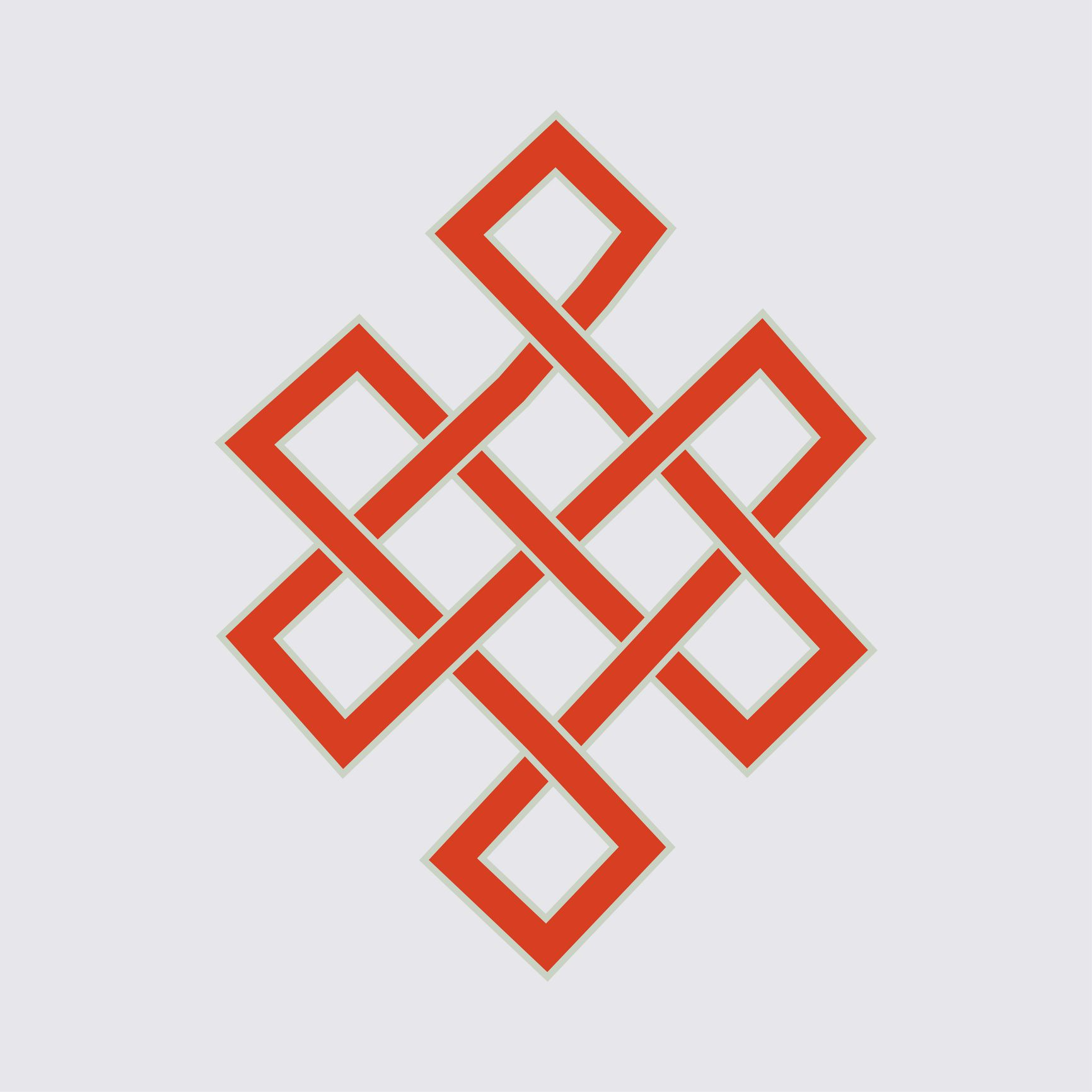 Glorious Eternal Knot or Endless Knot in red