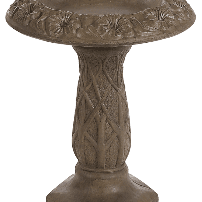 27-in H 1-tier Round Concrete Birdbath
