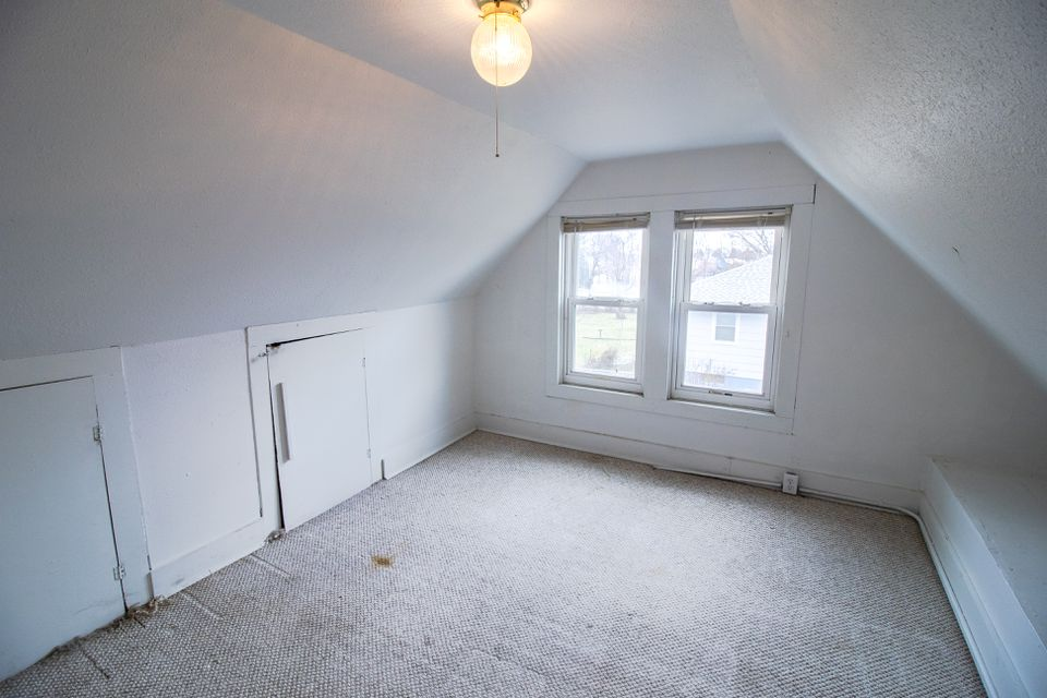 A white, empty attic