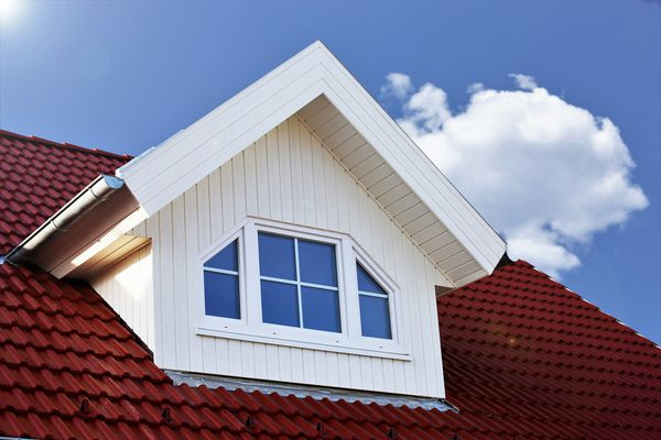 Red roof with dormer