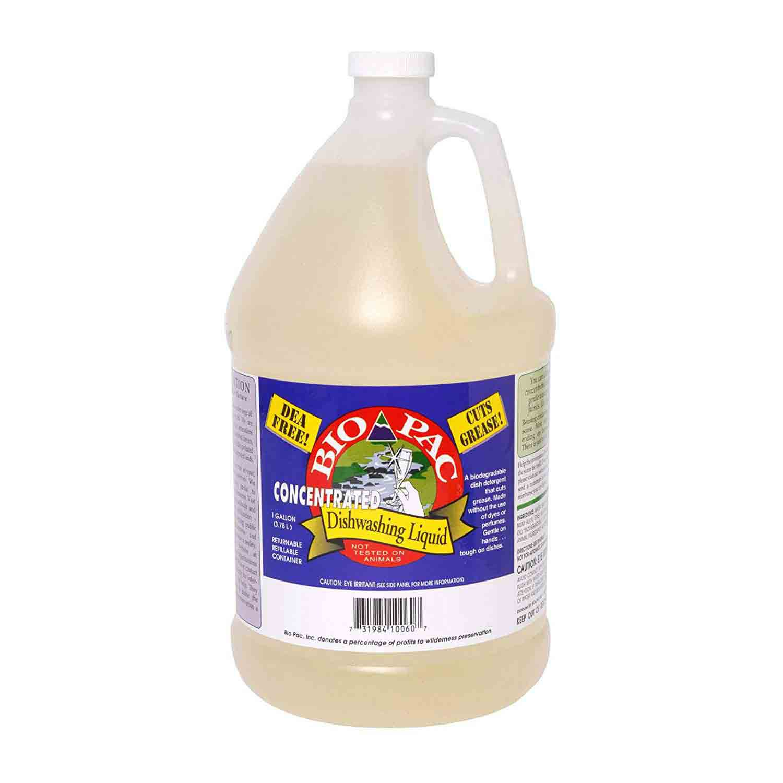 Bio Pac dishwashing liquid