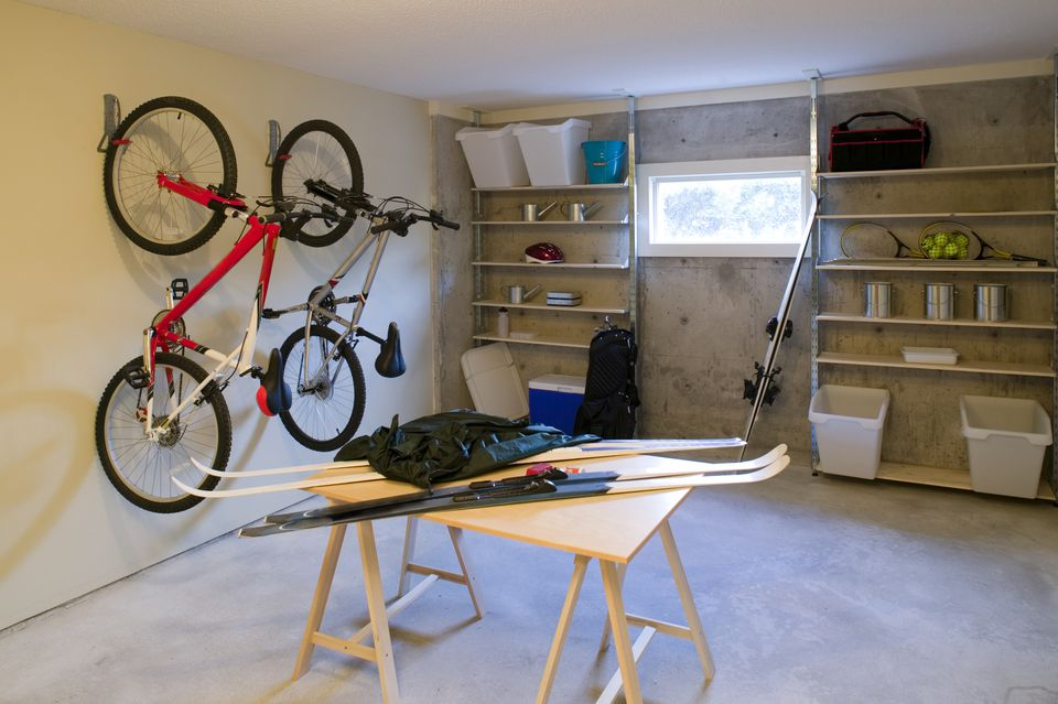 Basement house clutter garage storage