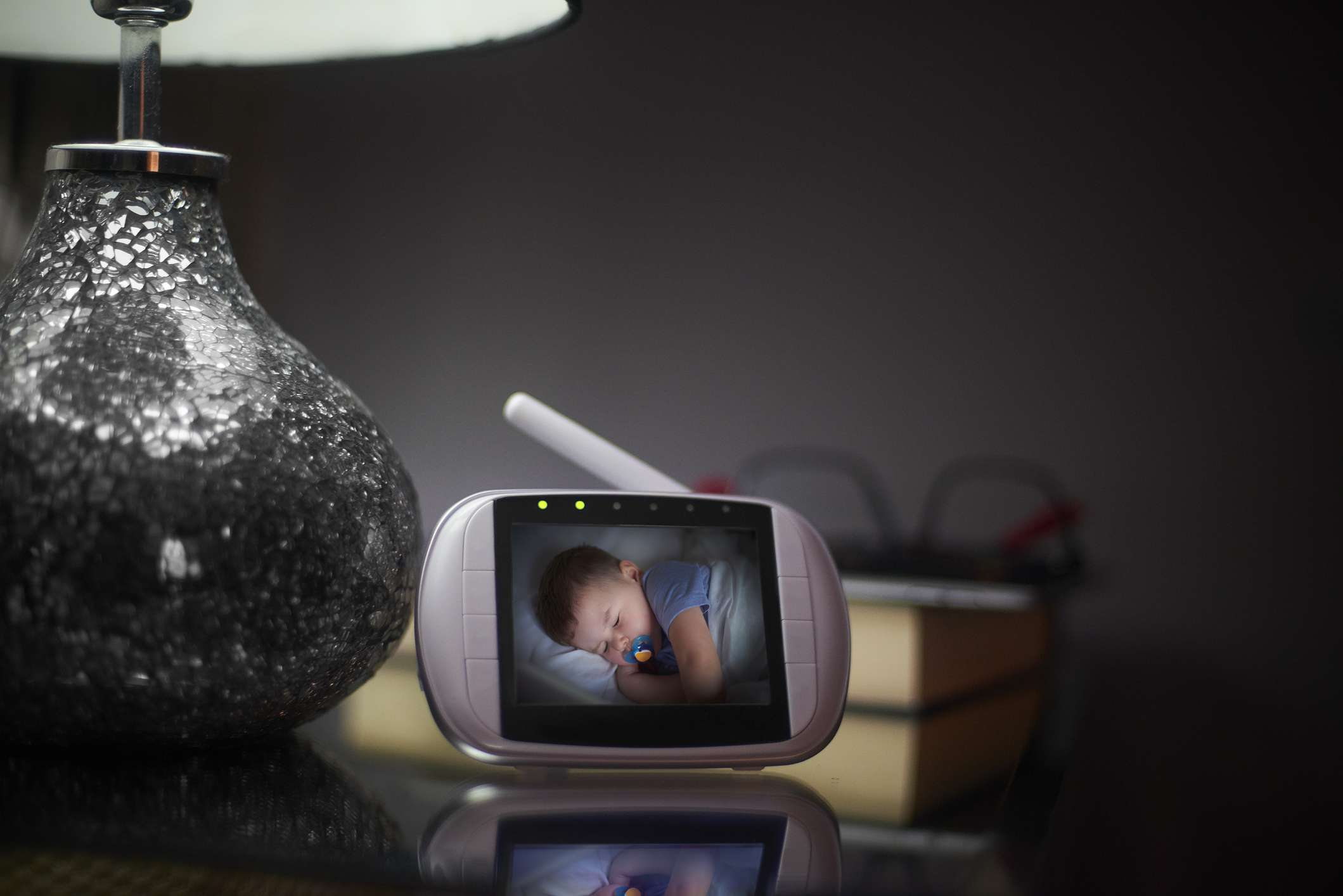 Baby Monitor on bedside table