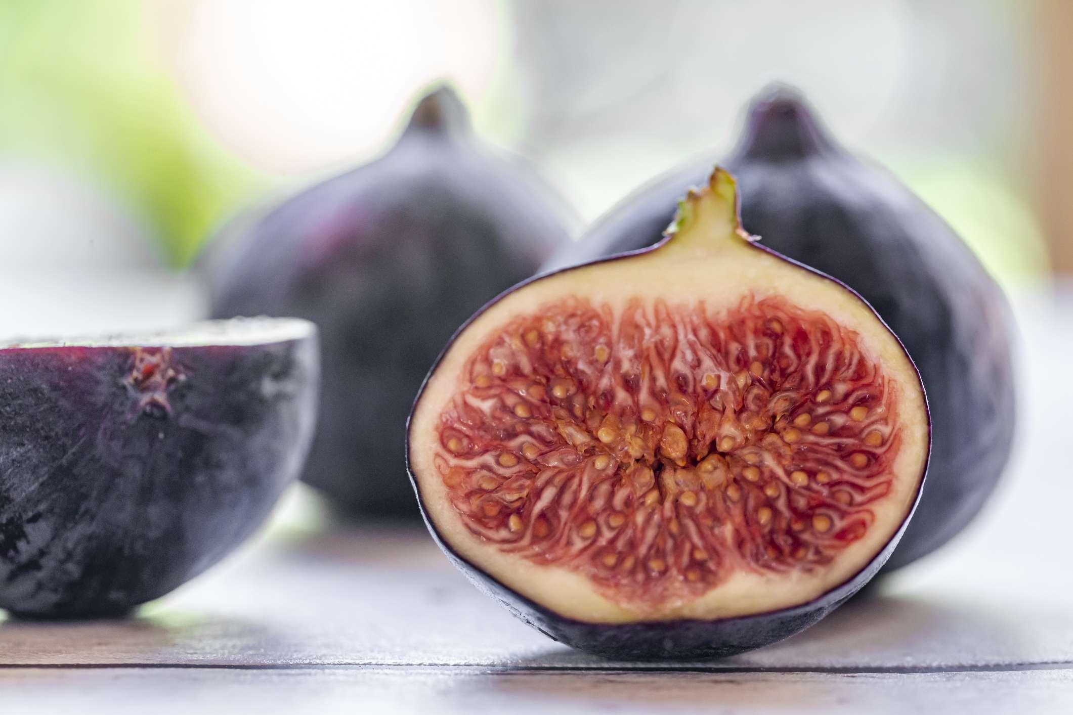 Fresh figs cut open