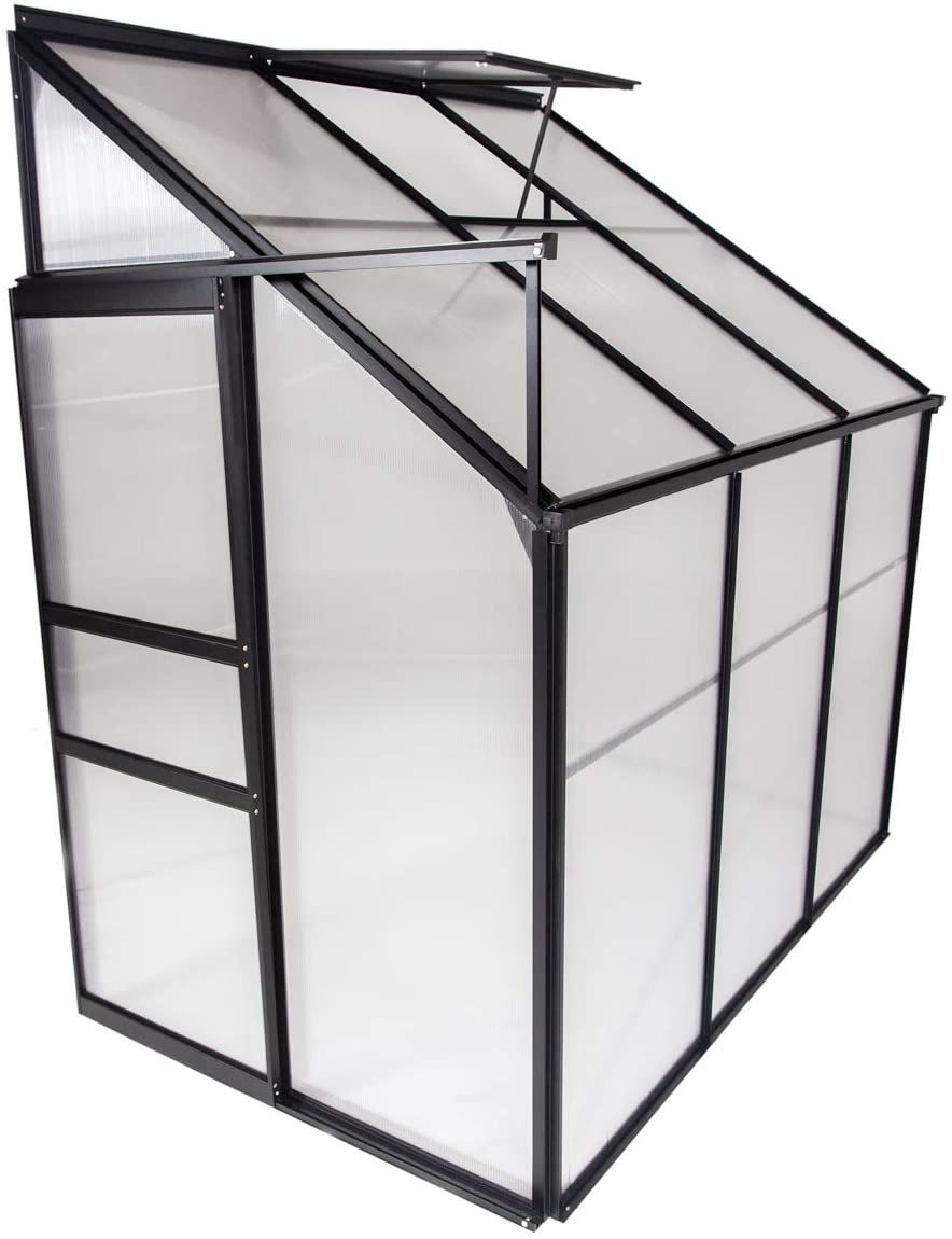 Ogrow Aluminum Lean-To Greenhouse
