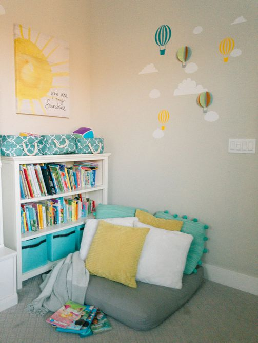 rincón de la biblioteca para niños