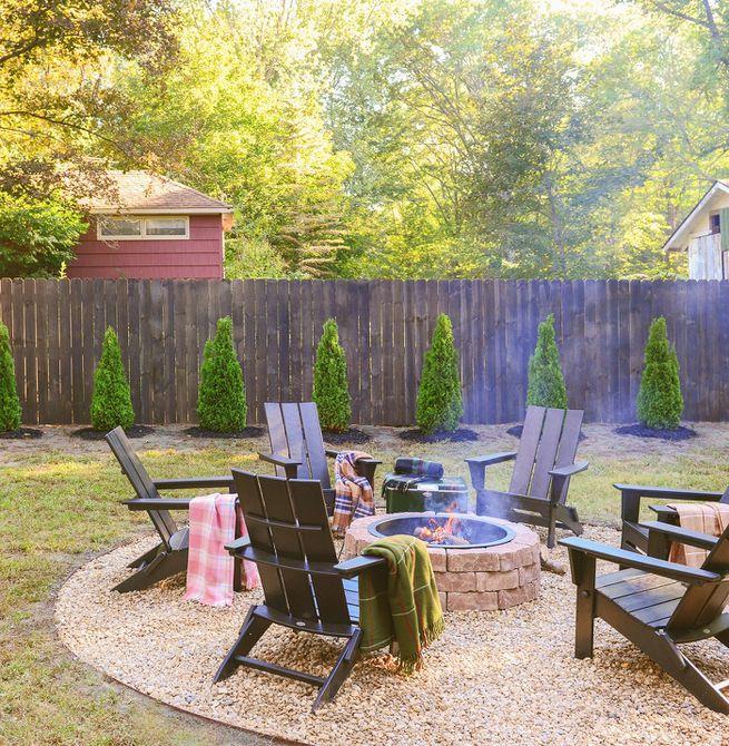 Cambio de imagen del césped del patio trasero - Después