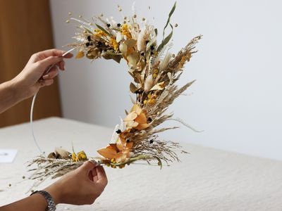 Preserved flower wreath by Shida Preserved Flowers