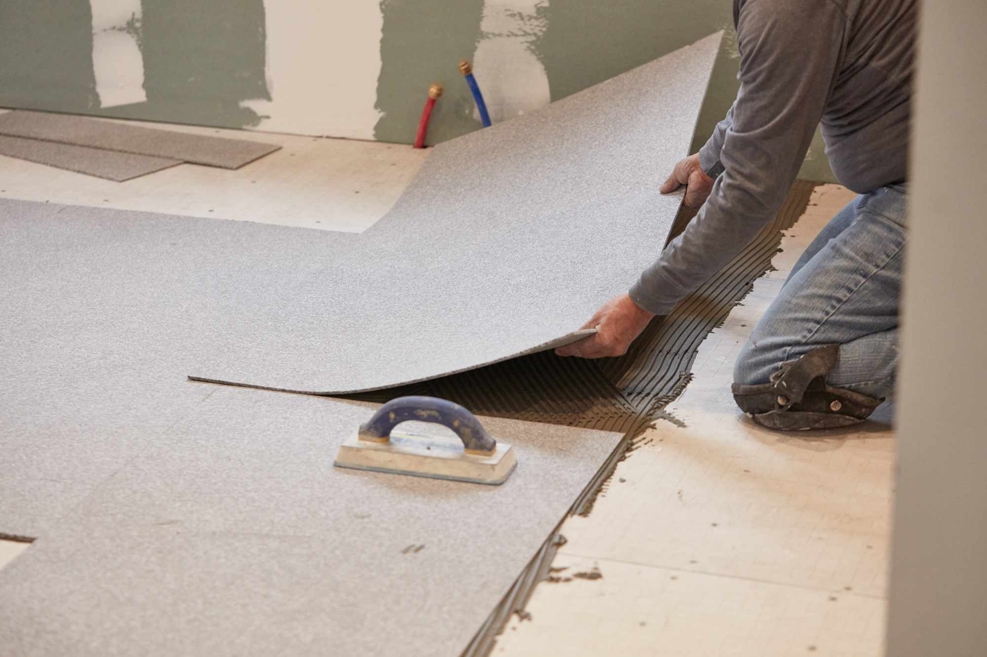 Lay the Radiant Heating Underlayment