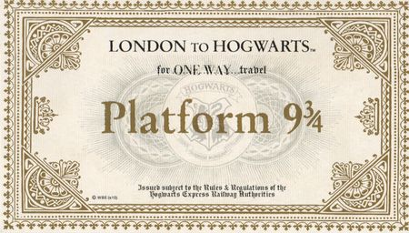 Invitations Hogwarts Express Ticket