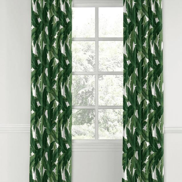 cortina de hoja de plátano