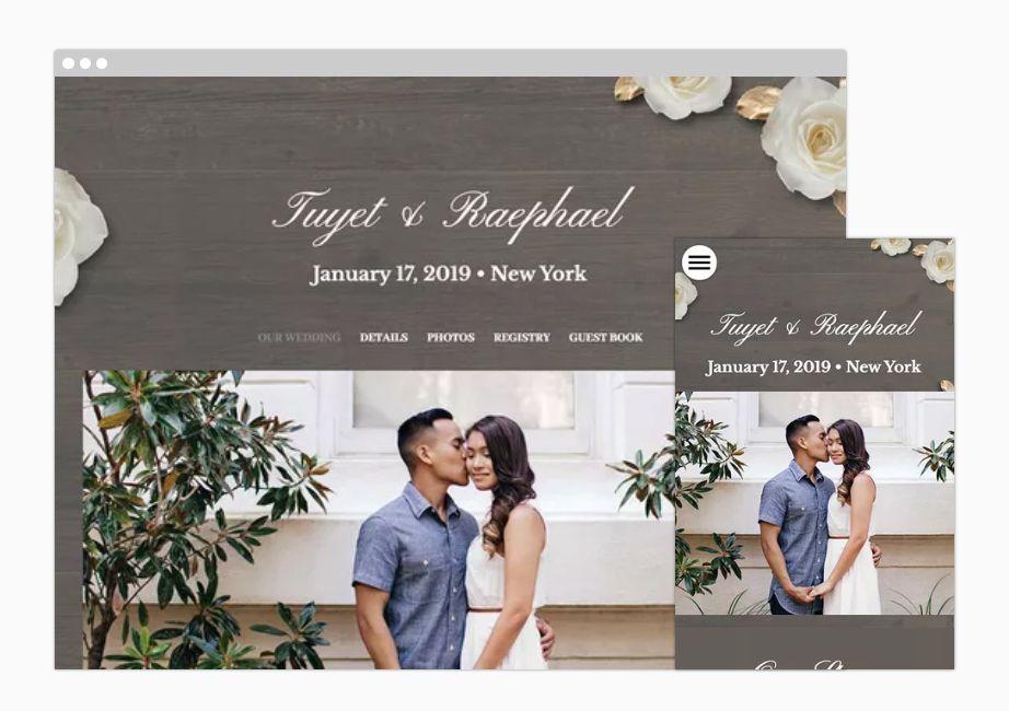 The Knot A Wedding Website