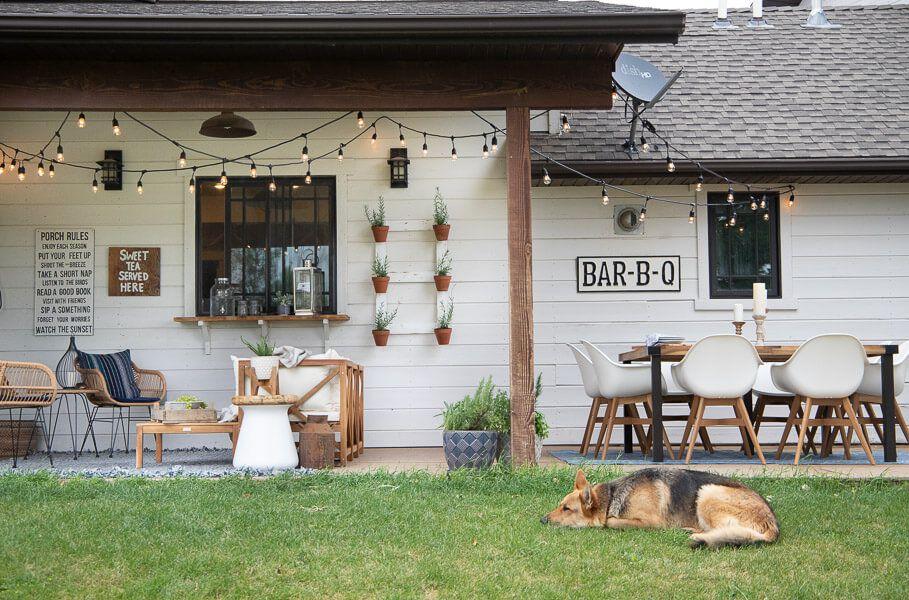 Farmhouse patio decor