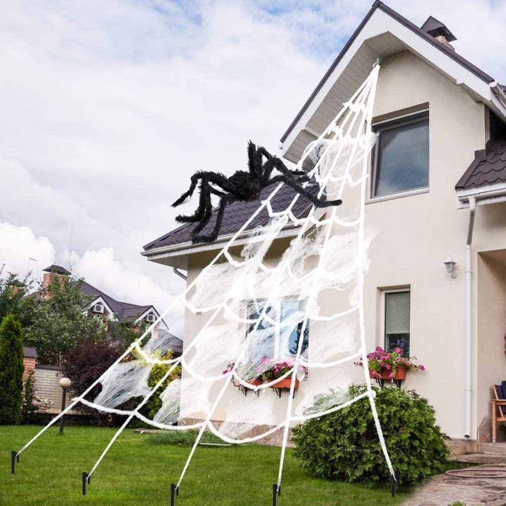 AODINI Spider Web Halloween Decorations