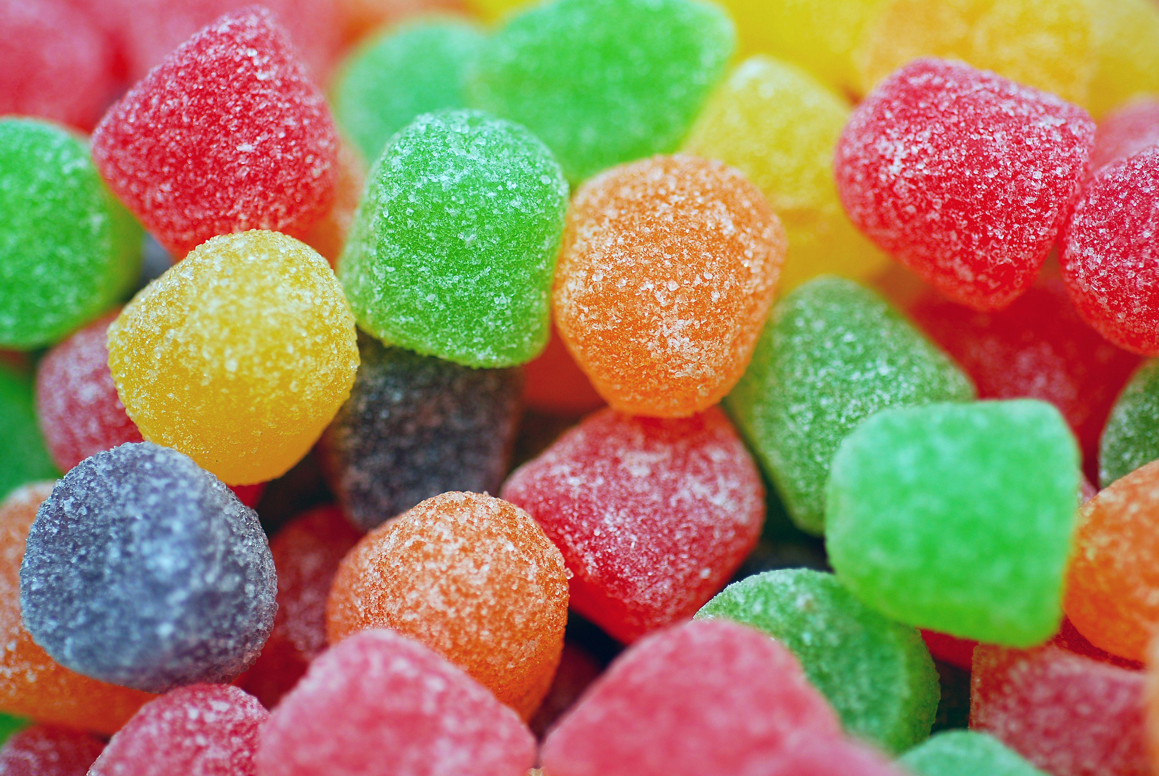 Colored gumdrops
