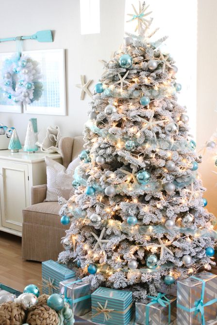 Ocean Inspired Hues on a Christmas Tree