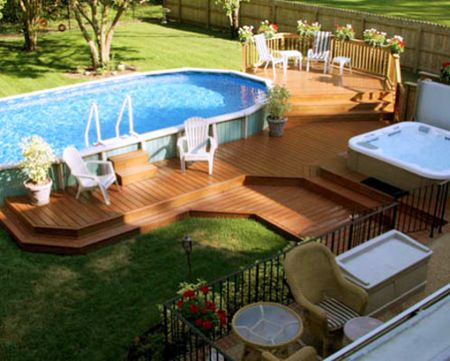 above ground pool with deck and hot tub. Above Ground Pool With Deck And Hot Tub The Spruce