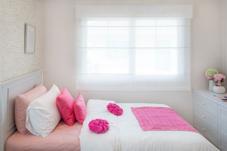 Pink Room With Hot Accents