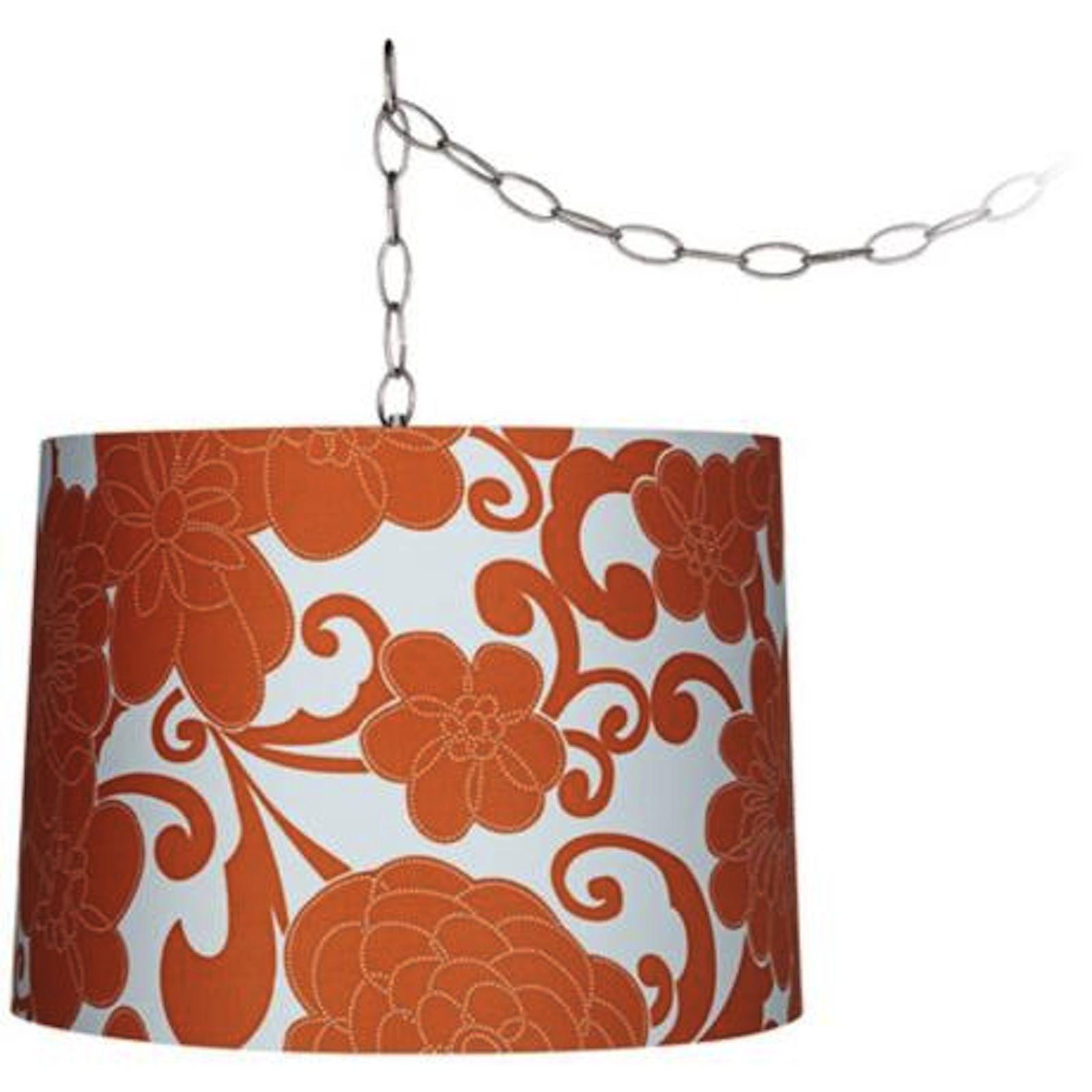 orange floral lamp