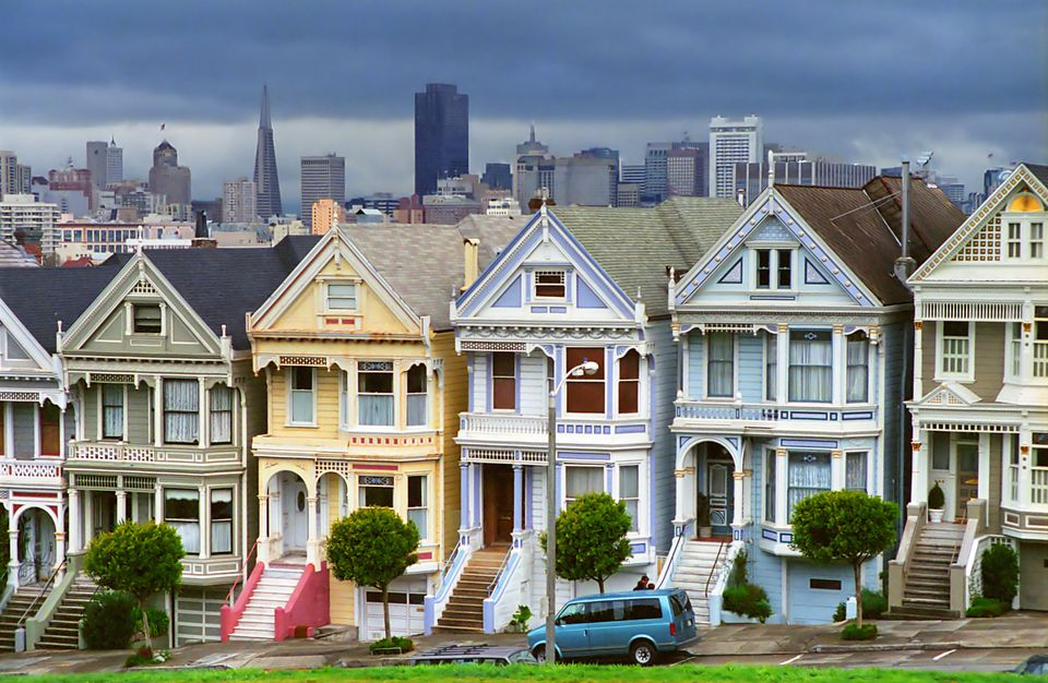 Victorian Painted Ladies in San Francisco.