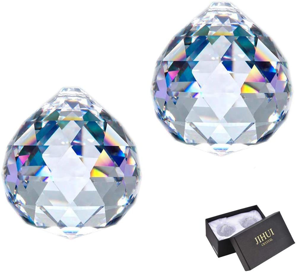 JIHUI Clear Glass Crystal Ball Prism