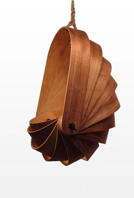 silla burbuja de madera