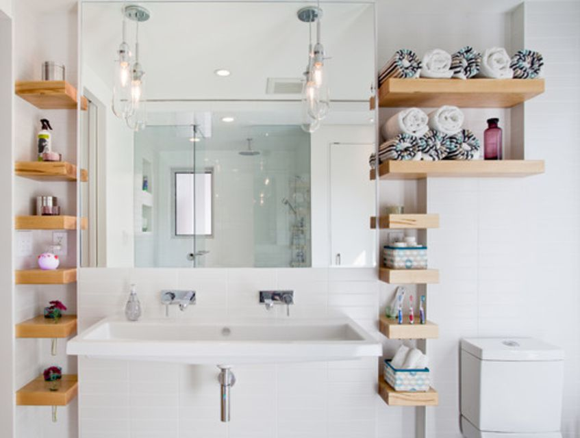 15 Bathroom Shelf Ideas For an Organized Home