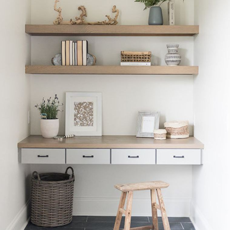 Small home office in nook