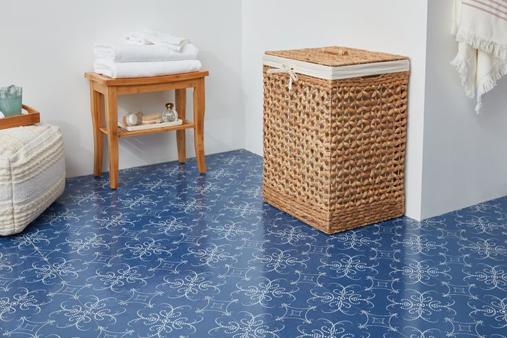 Budget Friendly Bathroom Flooring Options, Blue Bathroom Flooring