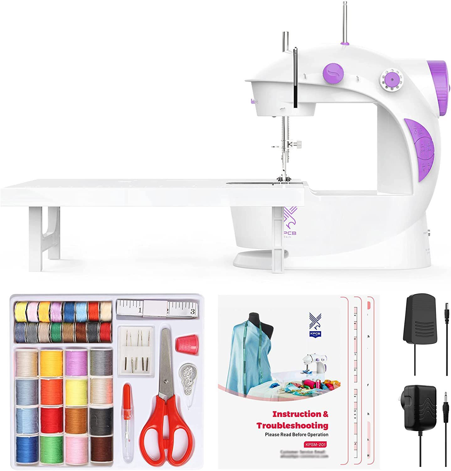 Varmax Mini Sewing Machine with Extension Table and Sewing Kit
