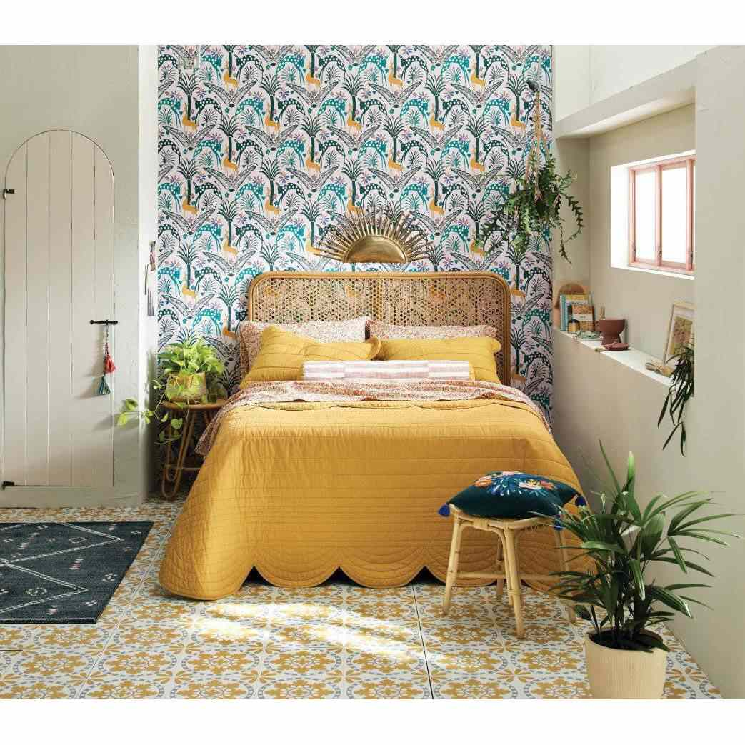 Scalloped edge quilt from Justina Blakeney x Opalhouse for Target