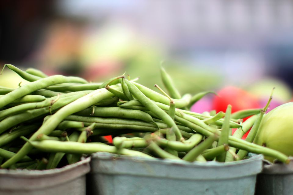 Green beans from a homestead