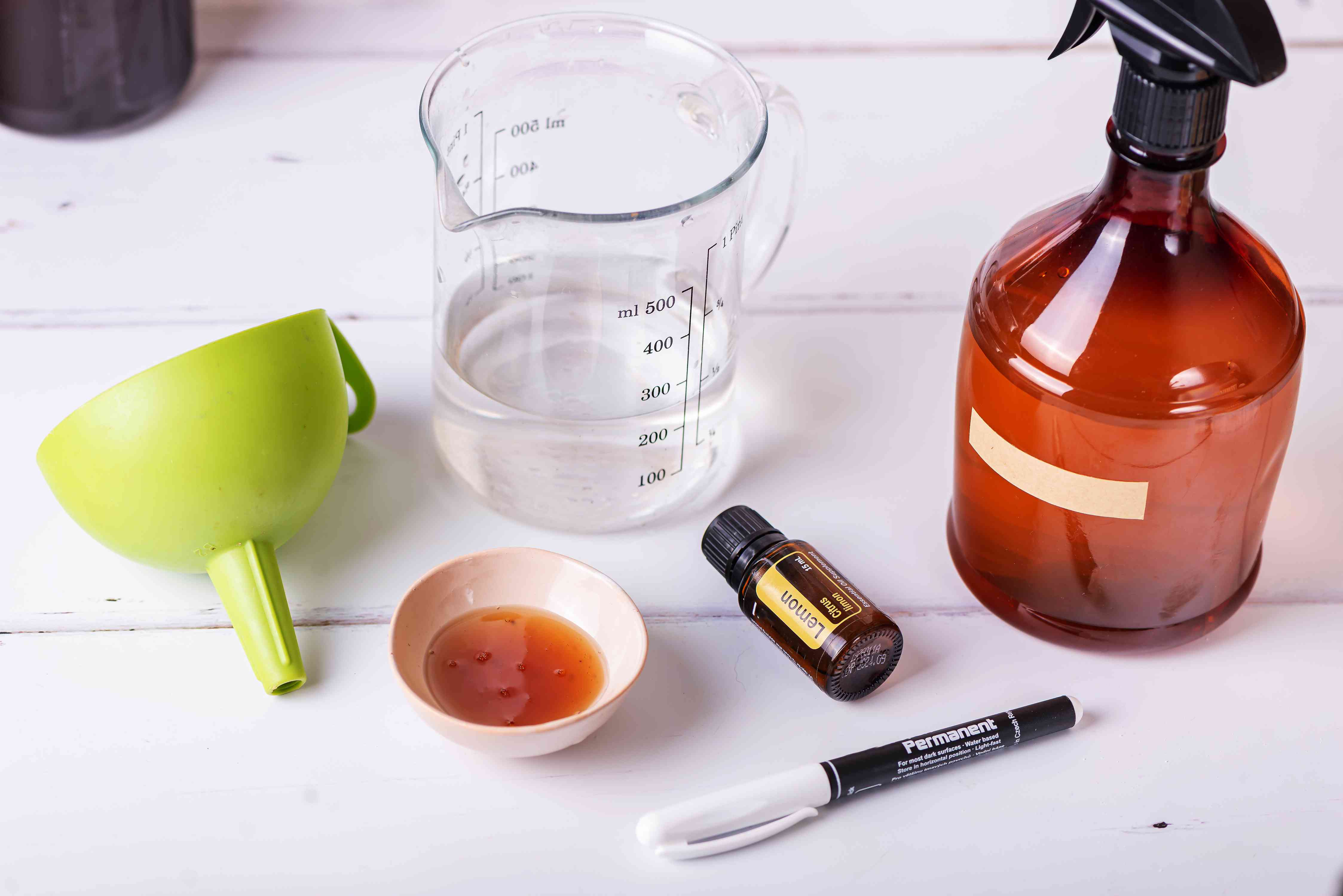materials for making homemade castile soap spray