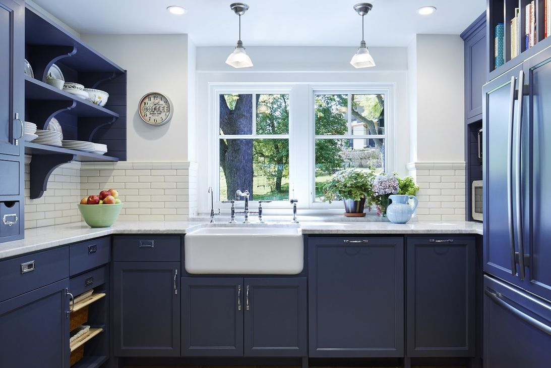 Navy Blue Kitchen Cabinets
