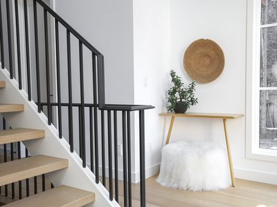 stair railing in a home