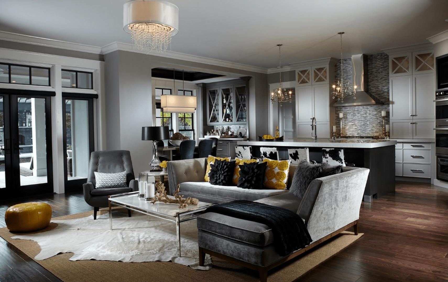 beautiful gray living room ideas - Gray Living Room
