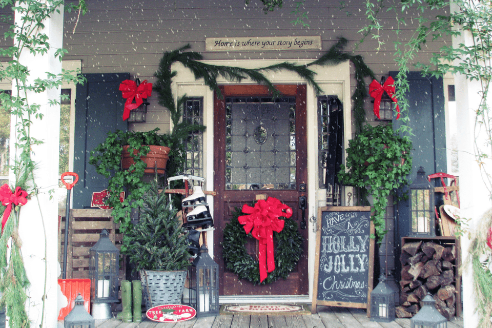 Front Porch Christmas Decorations.40 Best Christmas Porch Decorations