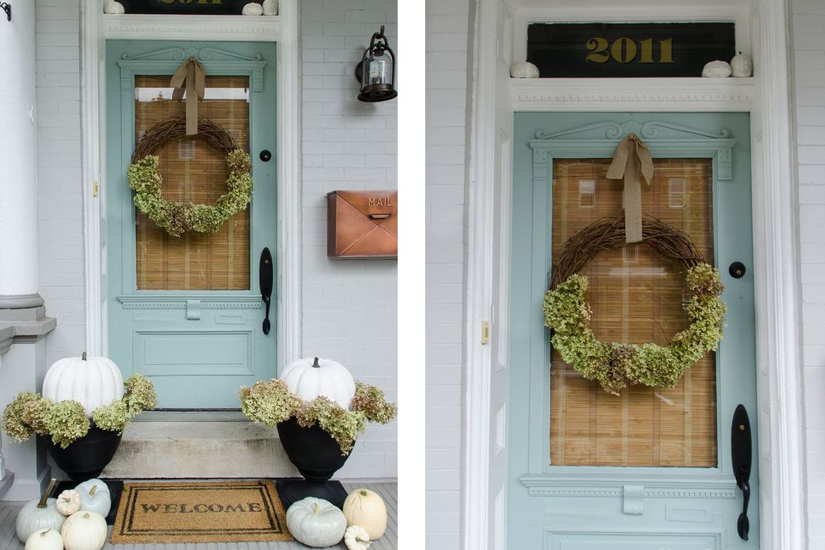Home Story White Green Fall Porch