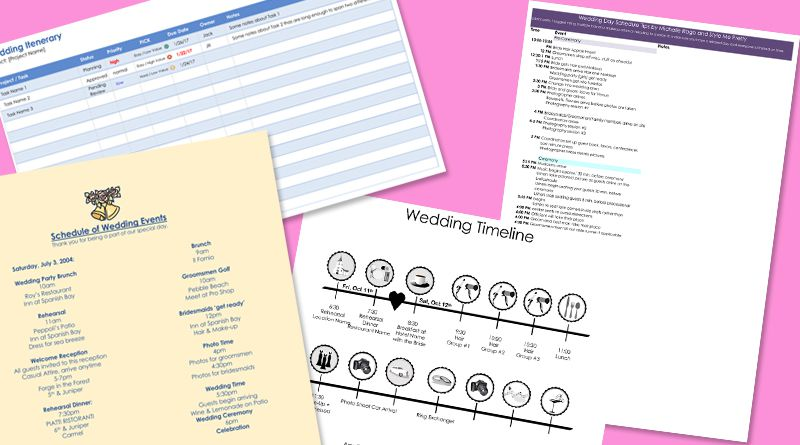 8 Free Wedding Itinerary Templates And Schedules From Word Layouts