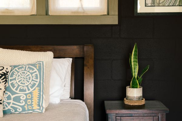 black paint in an interior