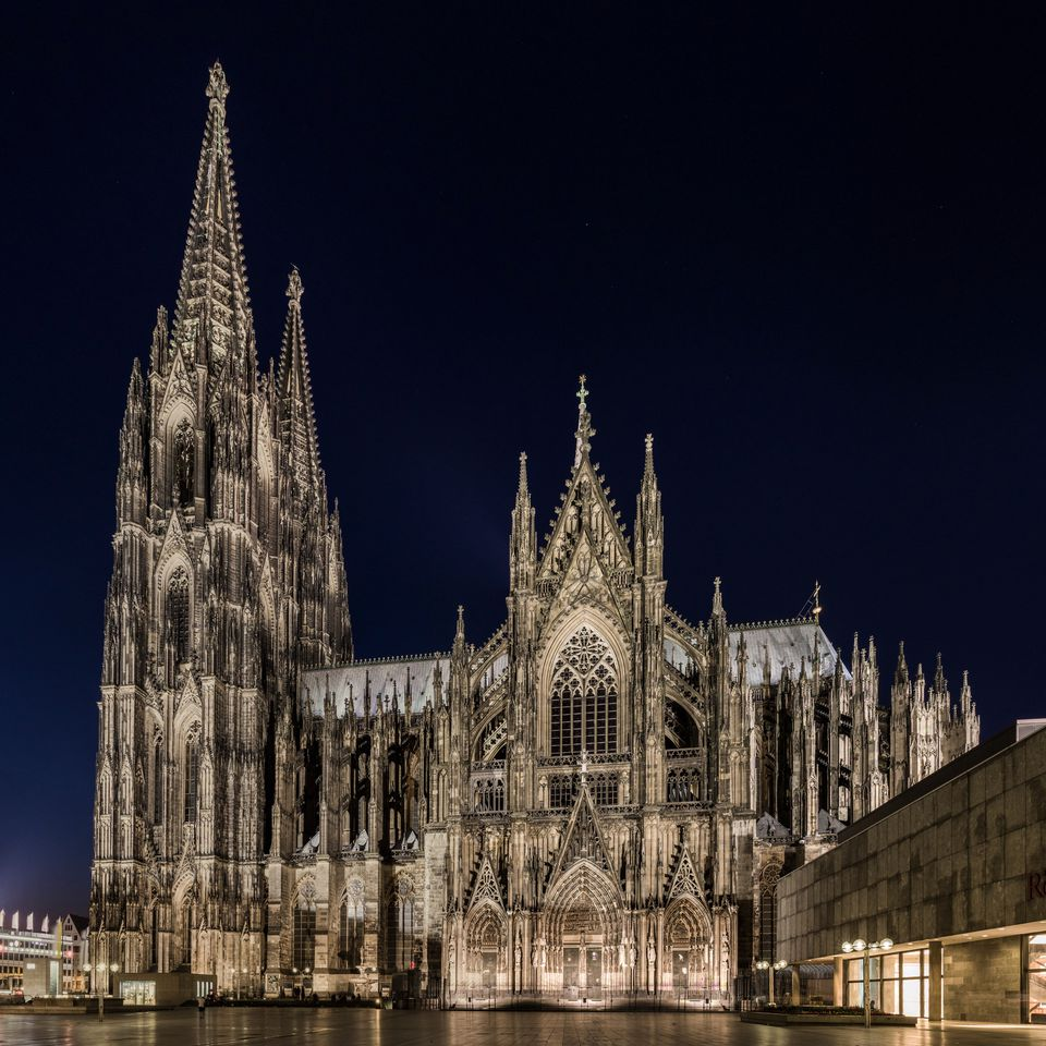 Famous Gothic cathedral, Cologne Cathedral