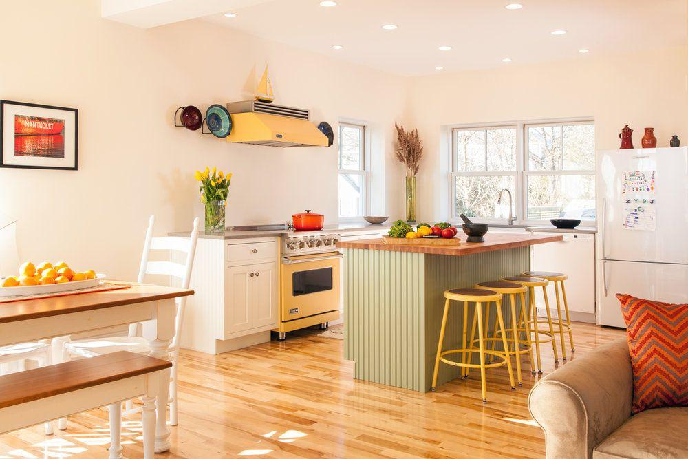 NET ZERO yellow kitchen