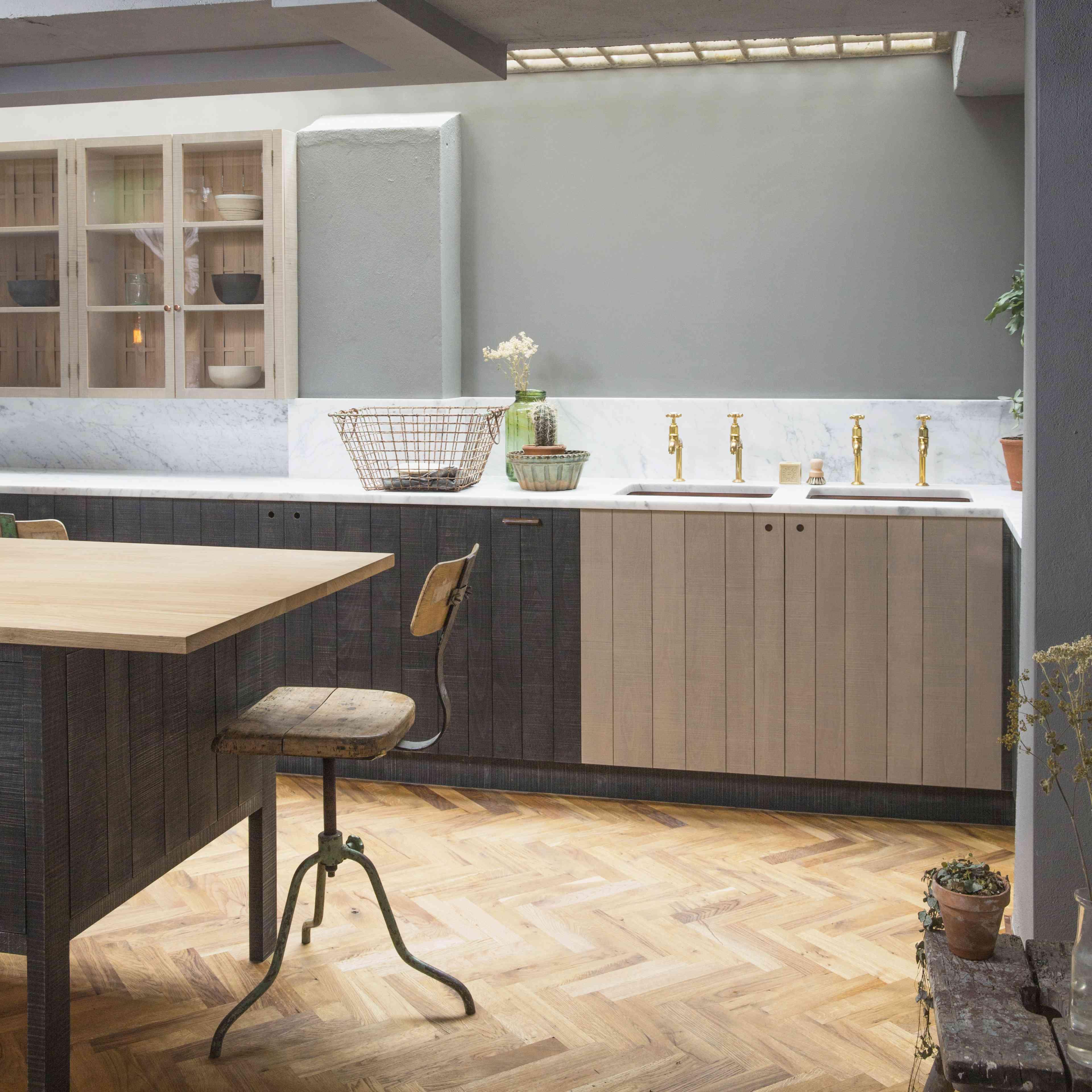 Basement kitchenette