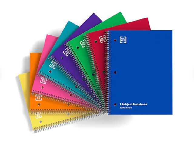 TRU RED 1-Subject Notebook
