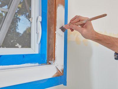 Painting interior window trim