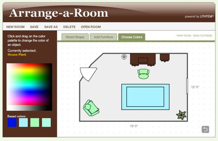 Screenshot Of A Floor Plan Designed Using Better Homes And Gardens Arrange Room